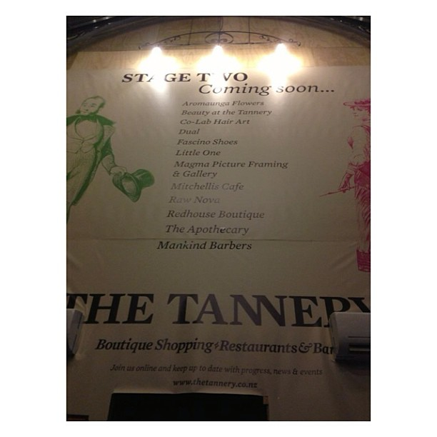 Coming soon! Be sure to see us at The Tannery
