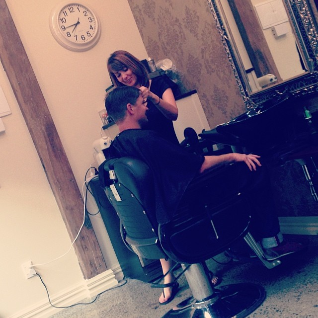 Late night styling !!!!@ it again tomorrow night... Give us a call on 03 3899517 to get yourself looking sharp over the holidays