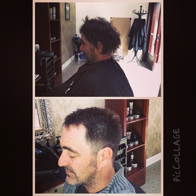 An awesome before and after done today! A new man!
