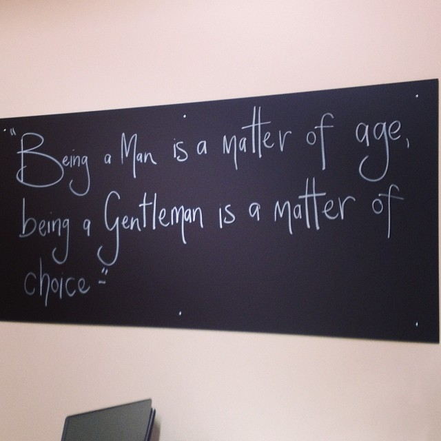 Hey guys check out the new addition to the shop! We love it! Do you have any great quotes that we can put on our blackboard? We would love to hear them!